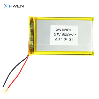 shenzhen battery factory XW 105080 3.7v li-ion battery 5000mah for digital products