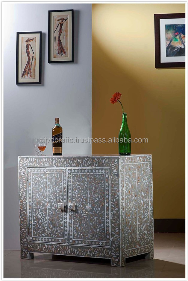 Indian U0026 Moroccan Style E Mother Of Pearl Inlay Chest,Sideboard Cabinet  (bone U0026 Mother Of Pearl Inlay Furniture From India)   Buy Bone U0026 Mother Of  Pearl ...