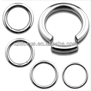 Surgical Steel Segment Captive Bead Ring Nipple Lip Ear Tragus