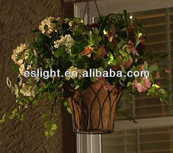 Lights Led Hanging Flower Basket For Sale