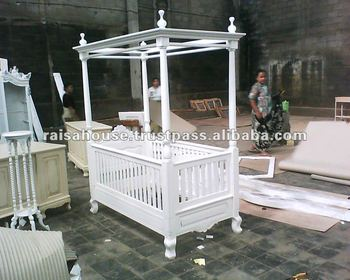 Mahogany Furniture-Antique Louis Baby Crib