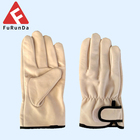 Cow grain leather working gloves cow leather driver gloves