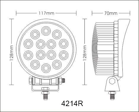 42W LED Work lights for cars working 4 inch LED Work Light