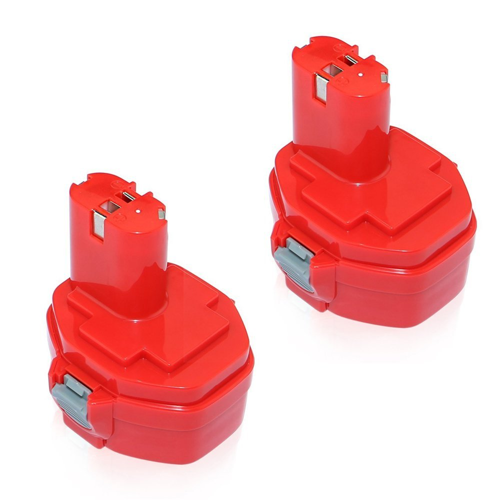 efluky 2Pack 3.0Ah 14.4V Ni-Cd Replacement Battery for Makita 1420 1422 1400 PA14 192600-1 194172-2 193062-6 193987-4 638350-9-2 193985-8