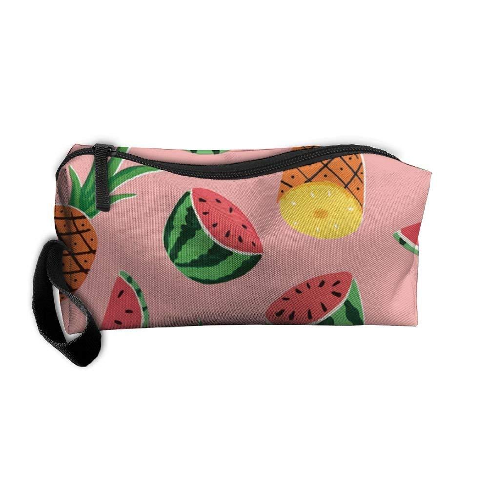 Watermelon Lemon Pineapple Strawberry Banana And Orange Pattern Fashion Unisex Travel Bag Small Items Collect Portable Toiletry Bag Organizer Storage