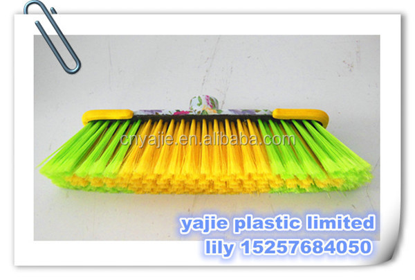 printed plastic cleaningbrooms , indoor soft broom , factory making brooms