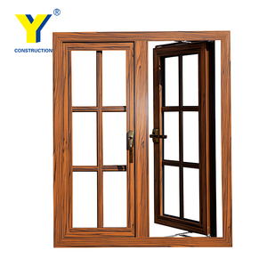 Aluminum wood window/aluminum double glazed windows and doors comply with Australian standards & New Zealand standards