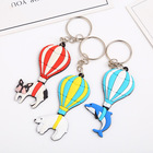 Factory wholesale plastic soft PVC key chain,custom key ring for fan gift