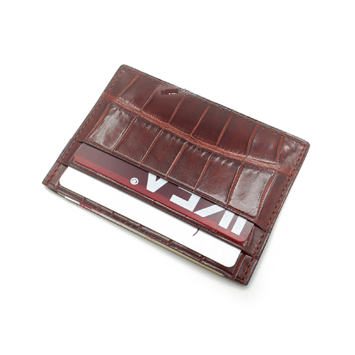 Men's Alligator Leather Slim Card Holder
