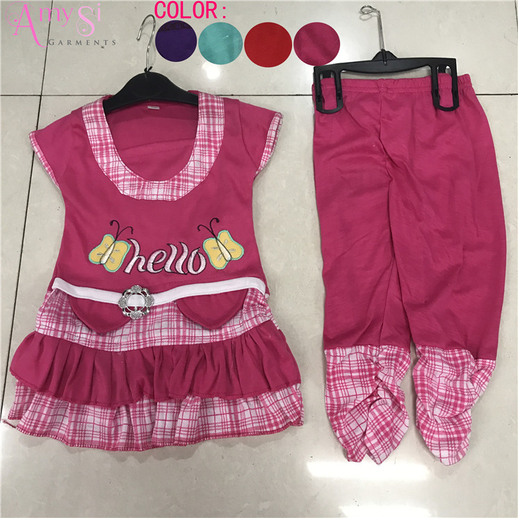 1.75 USD GT010 china factory price cotton girls clothing boutique, girls clothing sets 2018, girls clothing sets summer