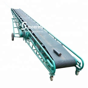 50kg bags truck loading mobile belt 600 m conveying equipment