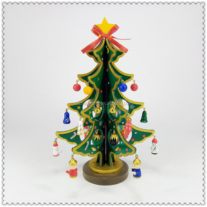 wooden tree decorated with a small doll Christmas Decoration Home decoration christmas wood ornament