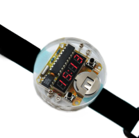 Smart Electronic single-chip LED watches electronic clock kit DIY LED Digital Watch Electronic Clock Kit With Transparent Cover