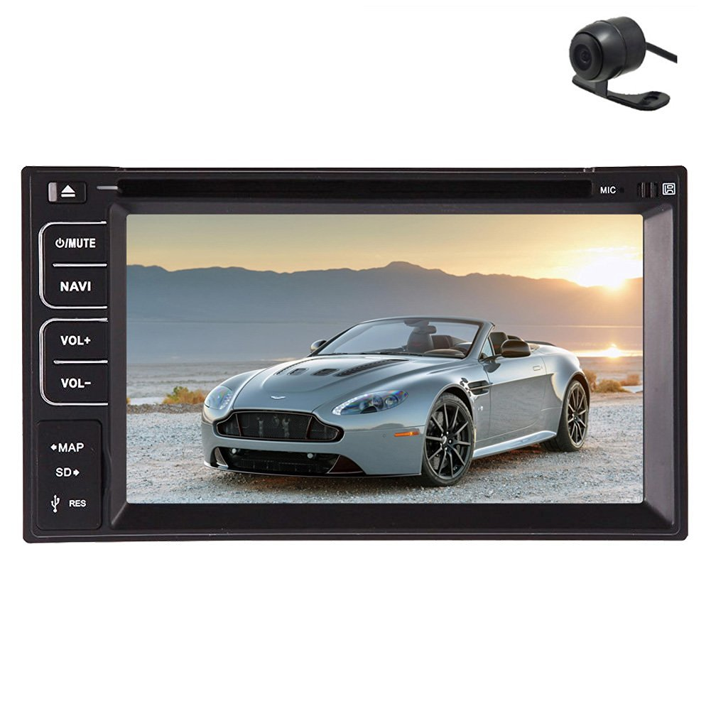 Christmas Sale!!! Accessory PUPUG Car DVD Player Head Unit In Dash Stereo 2 Din Video Double 2 DIN Bluetooth radio tv Head Unit Auto Accessory Radio Multi Touch Screen with In-Dash Free Back C