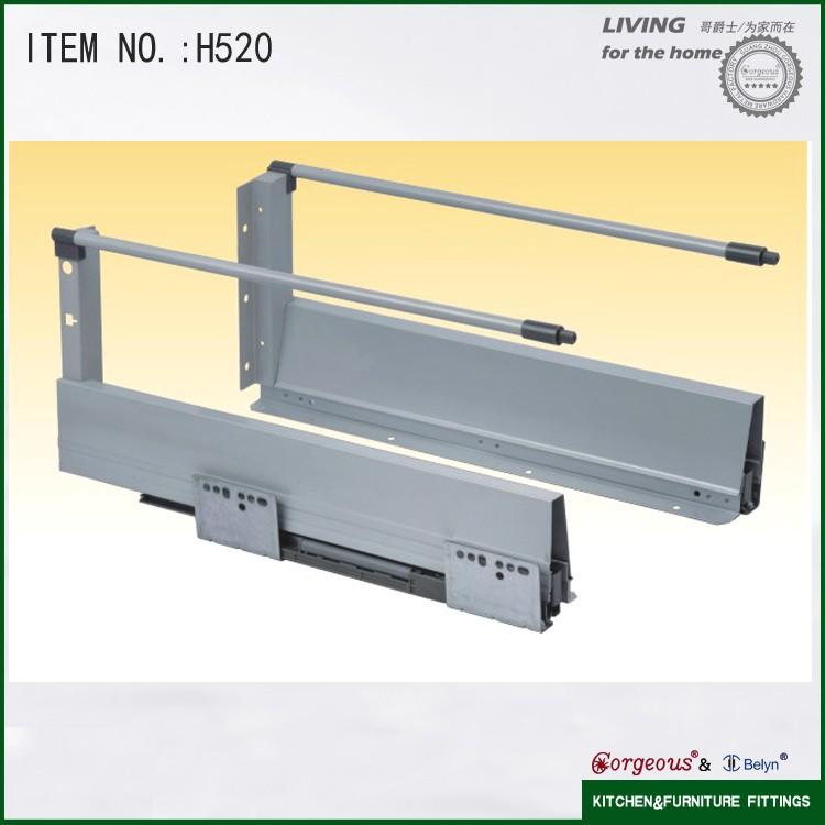 Keukenkast Accessoires : Keukenkast accessoires aluminium conceal ladegeleiders