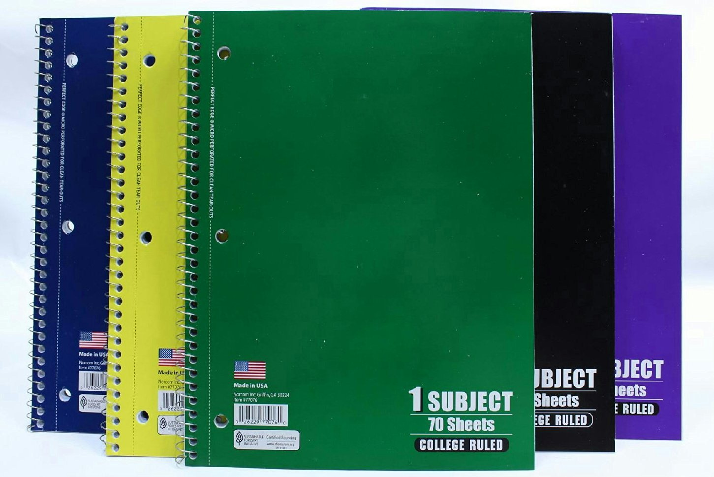 Buy Norcom College Ruled Spiral Bound 70 Sheet Notebooks