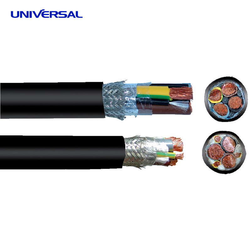 Three Conductor Variable Frequency Drive Cable 600V UL Type TC-ER / 1000V UL Type Motor Supply