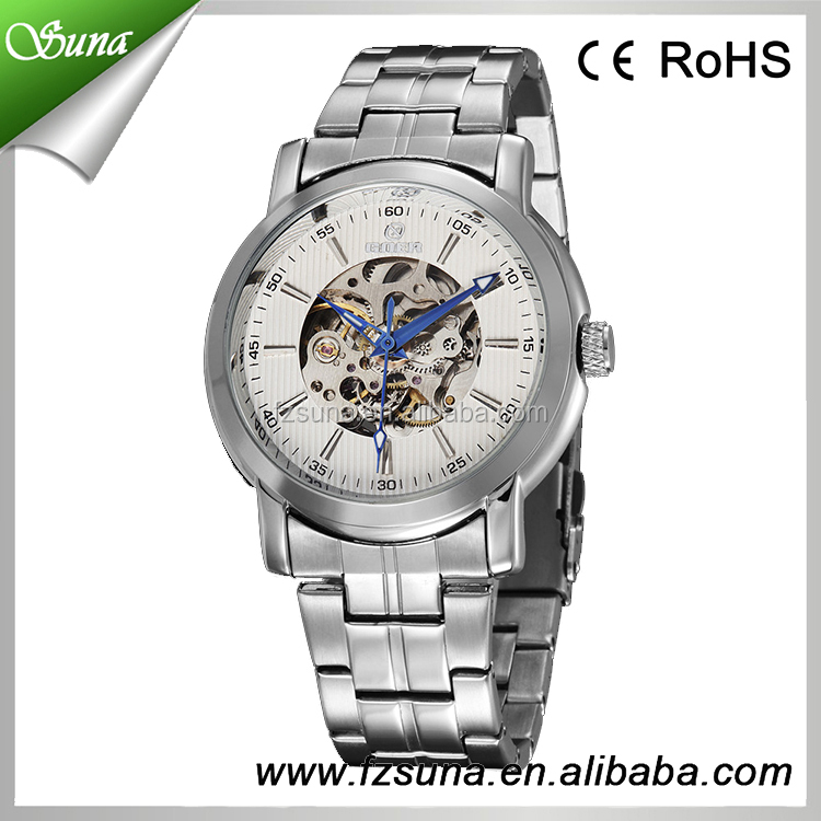 Alibaba europe Goer brand sports fashion full stainless steel roles watches men