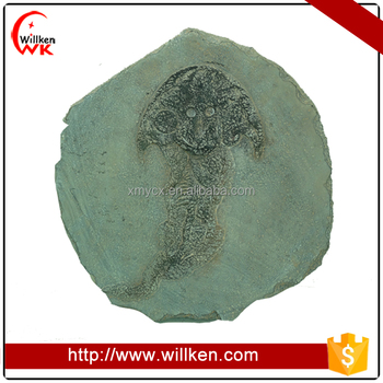 Polyresin fake fossil ocean animal onament home decoration