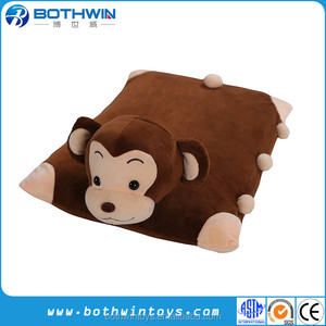 Plush Cartoon Animal Breathable Natural Latex Foam Pillow