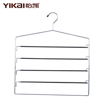 PVC Coated Metal Trousers Hanger with 5 Tiers of bars