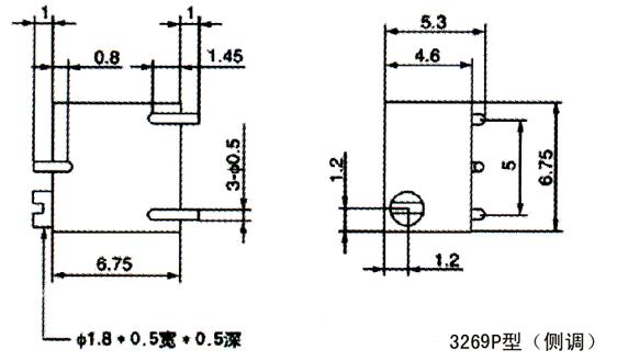 bochen 3269 series variable resistor potentiomete  b10k potentiometer