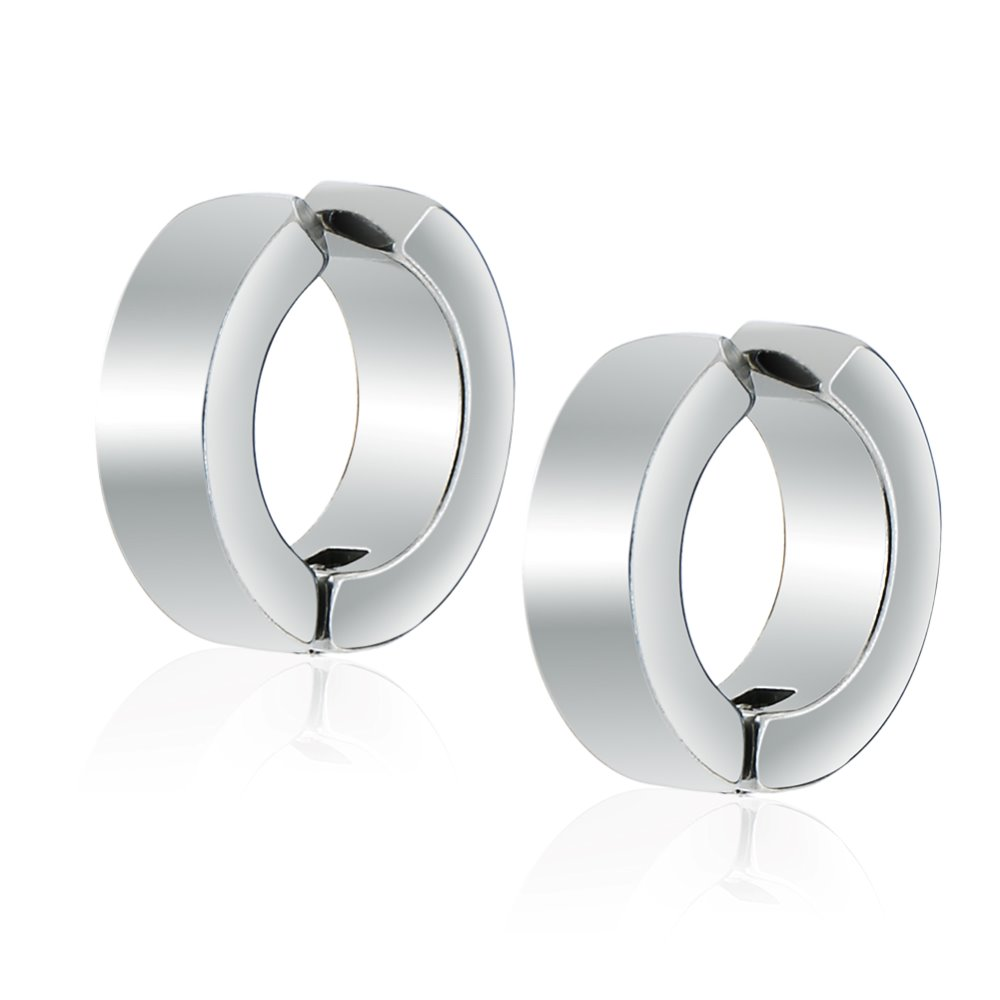 Fashion jewelry 316L surgical stainless steel earring , clip on earring for women men party gift