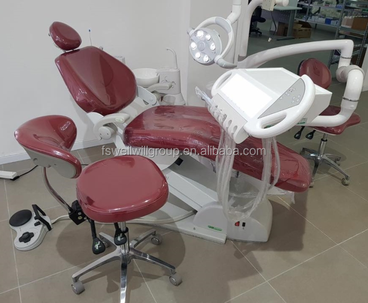 W8000 Luxus Dental Einheit mit Deutsch Import Dental Stuhl