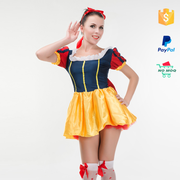 High Quality Polyester Snow White Lady Pretty Fairy Adult Costume