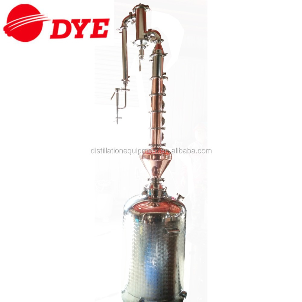 mini 200L stainless steel 304 home alcohol distiller with 4 plate red copper column for moonshine