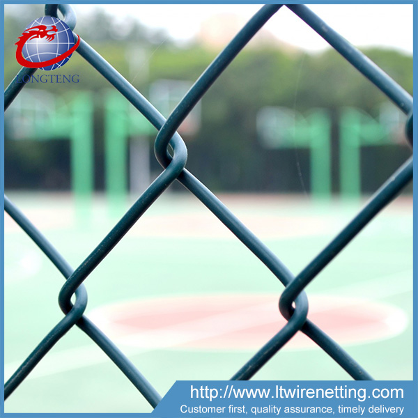 Hot selling 9 gauge privacy slats 5 foot plastic coated chain link fencing for sale