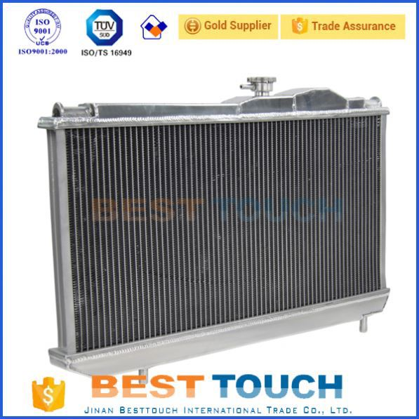 Custom automobile plain fin radiator for hilux kzn130 1kz-te