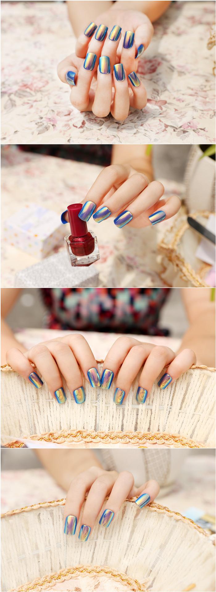 Nail Art Diseño China Fabricante De Alta Calidad Delicado Azul ...