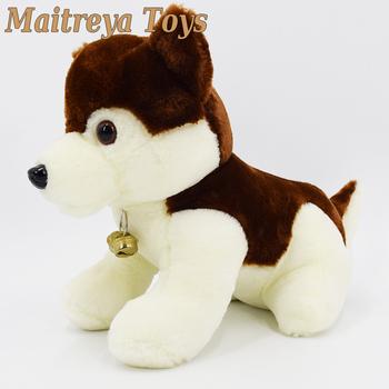 Custom Plush Brown Siberian Husky Dog Stuffed Animal Toy Puppies For