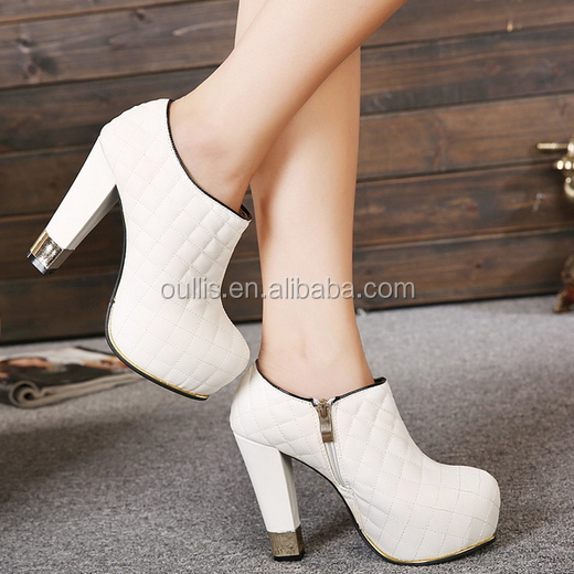 New White Ankle Boots 2015-2016 Footwear Ladies Fancy Design ...
