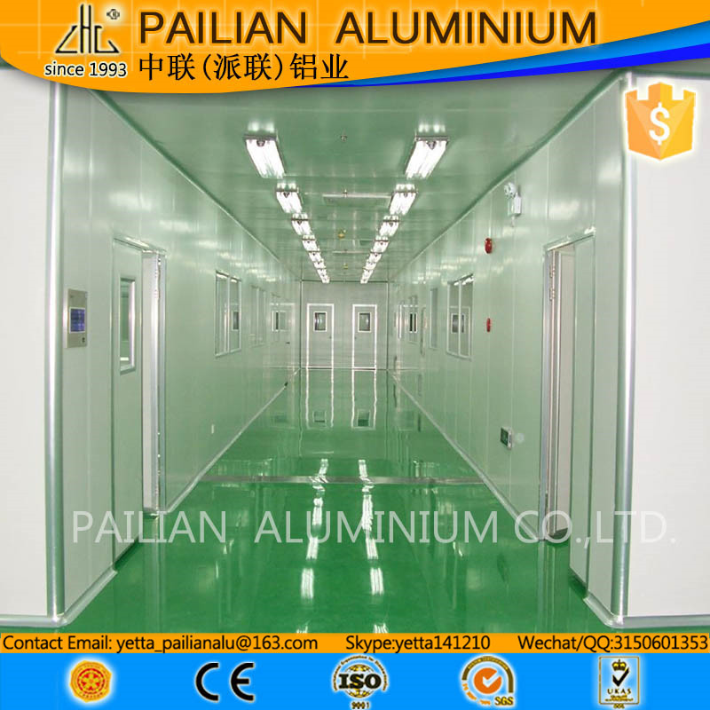 6063 t6 anodized aluminium price per kg,6000 series aluminum alloy ,clean room project aluminium profile
