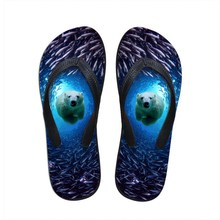 New 2015 Famous Brand Casual Men Sandals Slippers Soft Flat 3D Animal Beach Flip Flops Summer Outdoor Shoes Male Free Shipping