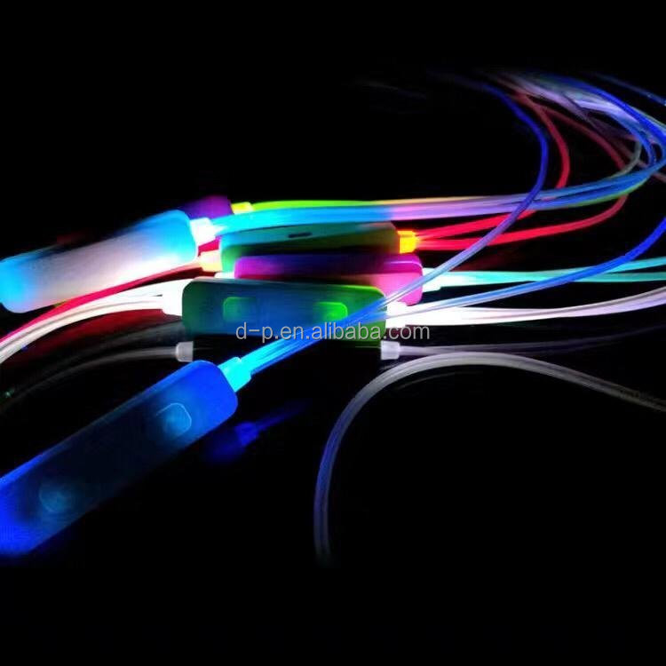 high quality factory color changing headphone led glow with flashing music earbud new peoducts