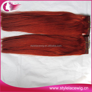 Best selling red indian remy hair weave
