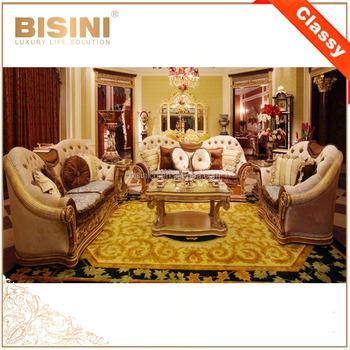 French Baroque Design Living Room Furniture Wood Carved Fabric Sofa Set/  Antique European Beige High Quality Sofa Set, View Baroque Design Living  Room ...