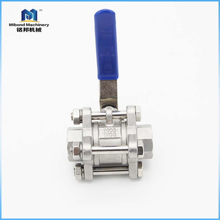 "1"" FULL BORE 3 PIECE BALL VALVE 1000PSI 316 STAINLESS STEEL"