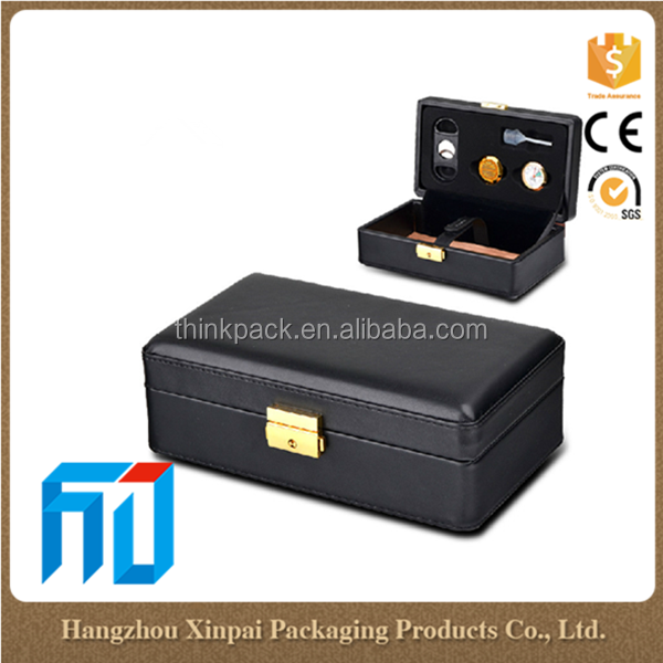 XP CIGAR 1180 Leather cigar humidor box
