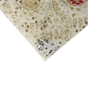 High Quality Lace Dangle Dot Stretch Sequin Fabric