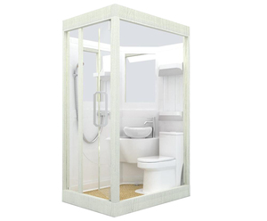 AN1014 prefab camping caravan modular bathroom toilet unit shower POD