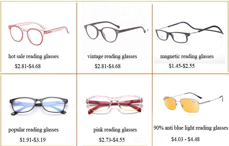 재고 이탈리아 패션 하프 프레임 디자인 광학 안경 독서 안경 남성