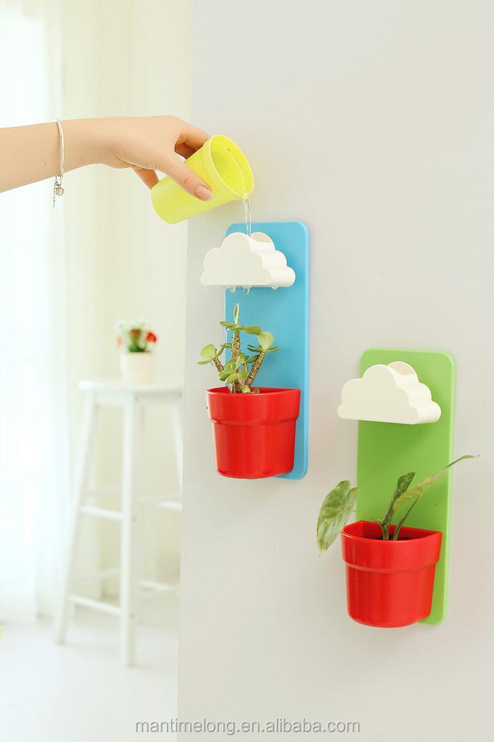 Rainy pot wall hunging cloud flowerpot plastic flowerpot for Blumentopf wand