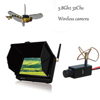 5.8ghz wireless rc boat camera monitor kit (32chs,150meters,8 gram super light camera , 5