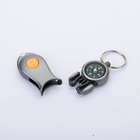 Outdoor keychain compass with LED light