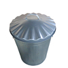 Home garden galvanized steel garbage can for sale