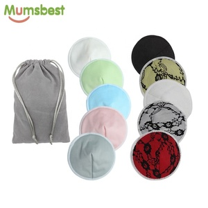 Factory Price Reusable Organic Bamboo Breast Nursing Pad Baby Washable Contoured Bra Pads With Bag
